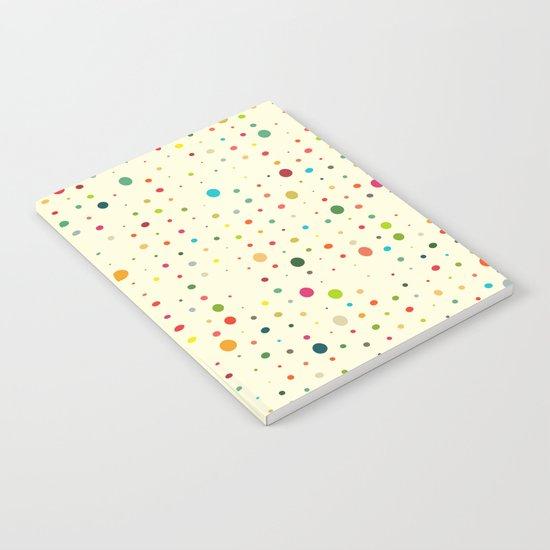retro rain spots cream Notebook
