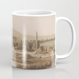 Vintage Illustration of the Thebes Ruins (1856) Coffee Mug