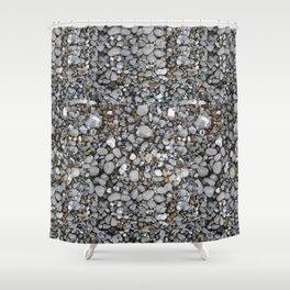 pebbles on the beach Shower Curtain