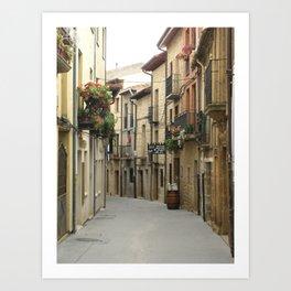 Alleyway in Laguardia Spain Art Print