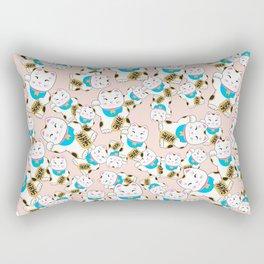 Maneki-neko good luck cat pattern Rectangular Pillow