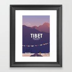Alone In Nature - The Tibetan Way Framed Art Print