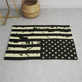 Distressed Tactical U.S. Flag Rug