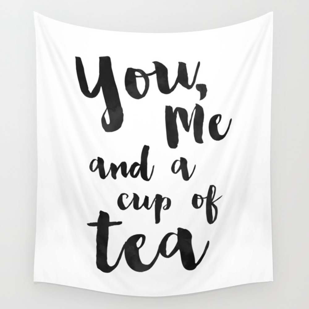You, Me And A Cup Of Tea. Wall Tapestry by Tomgiannasi TPS4023931