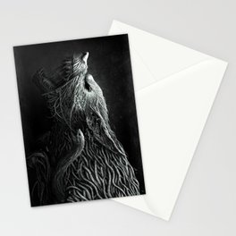 Wolf Monster Stationery Cards