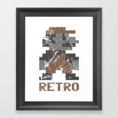 Mario Retro Framed Art Print