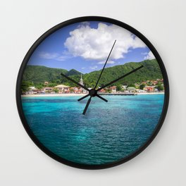 Tropical Coast Wall Clock