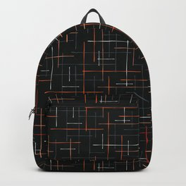 Abstract Criss Cross Lines Seamless Backpack