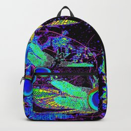 CELESTIAL DRAGONFLIES DREAMSCAPE BLACK DESIGN Backpack