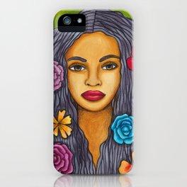 Floral Portrait iPhone Case