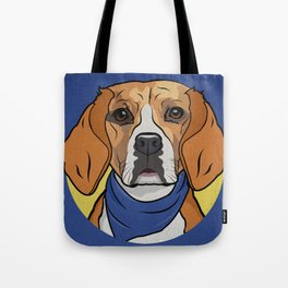 Icons of the Dog Park: Beagle Design in Bold Colors for Pet Lovers Tote Bag