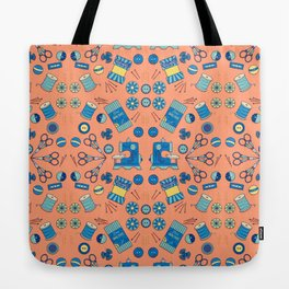 Kaleidoscope of Sewing Notions Tote Bag