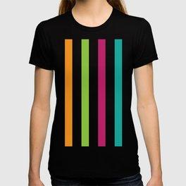 Vertical Rainbow Stripes T-shirt