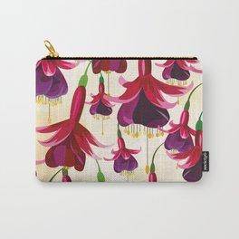 Fuchsia Flowers Feminine Pattern Carry-All Pouch