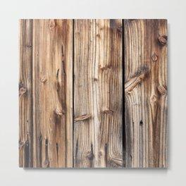 Wood pattern Metal Print