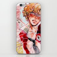 enjolras iPhone & iPod Skins featuring les miseràbles: st. enjolras by Daniela Viçoso