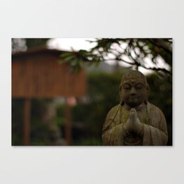 praying buddah Canvas Print