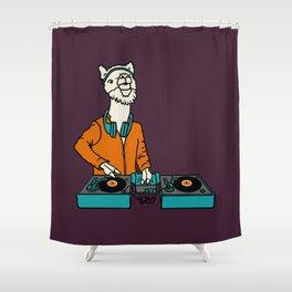 Flock of Gerrys Llama is my DJ Shower Curtain