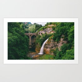 Cascata Di Ponte Serra Lamon Belluno Veneto Italy Ultra HD Art Print
