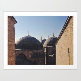 Out The Window Of Ayasofya Art Print