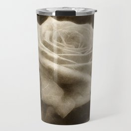 Pink Roses in Anzures 3 Antiqued Travel Mug