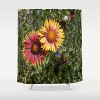 best friends Shower Curtains featuring Best Friends by EclecticArtbyLeslieWalker