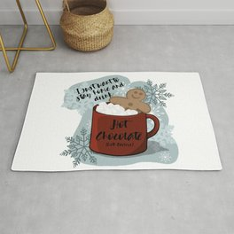 I just want to stay home and drink Hot Chocolate (with Baileys) Rug