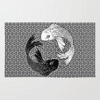 yin yang Area & Throw Rugs featuring Yin &Yang by ZE-DESIGN