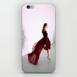 Antonio Berardi Red Dress London Fashion Week Feb 2016 iPhone Skin