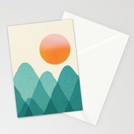Abstraction_Mountains_SUNSET_Landscape_Minimalism_003 Stationery Cards