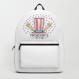Happy Presidents Day Hat Backpack