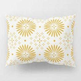 Happy Sunshine - yellow art, sunshine, boho art, bohemian, tile, home decor, yellow, yellow art print Pillow Sham