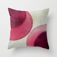 circles Throw Pillows featuring circles by Claudia Drossert