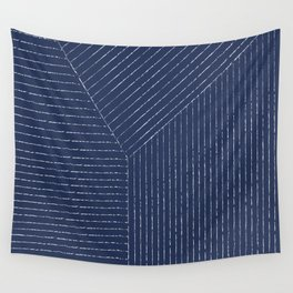 Lines / Navy Wall Tapestry