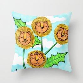 Dandy Lions Throw Pillow