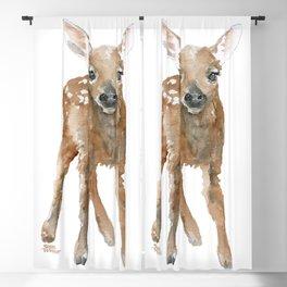 Deer Fawn 3 Watercolor Blackout Curtain