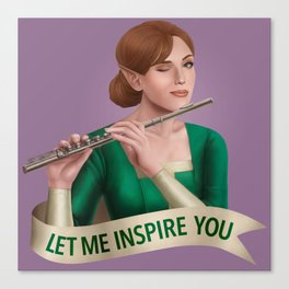 Bard: Let Me Inspire You Canvas Print