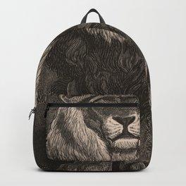 Lion illustration from L'art d'être grand-père - Victor Hugo - 1884 Backpack