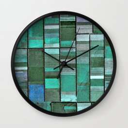 Life in Boxes (Blue and Purple) Wall Clock