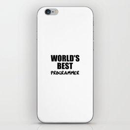 worlds best programmer iPhone Skin