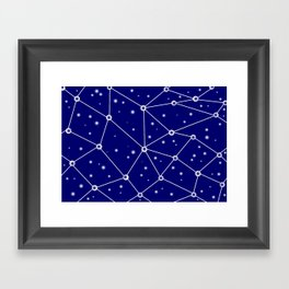 Constellations/Star Gazing Framed Art Print