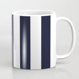 Elderberry blue - solid color - white vertical lines pattern Coffee Mug