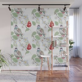 Partridge in a Pear Tree Wall Mural