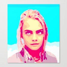 Cara Delevingne in Valerian Canvas Print