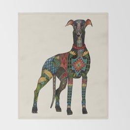 greyhound ivory Throw Blanket