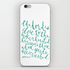 Psalm 34:18 iPhone & iPod Skin