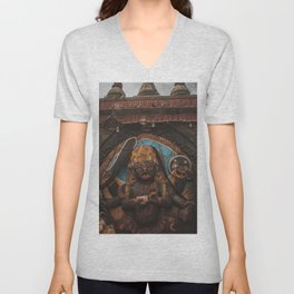 Temples and Architecture of Kathmandu City, Nepal 001 Unisex V-Neck