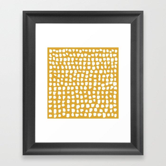 Dots (Mustard Yellow) Gerahmter Kunstdruck