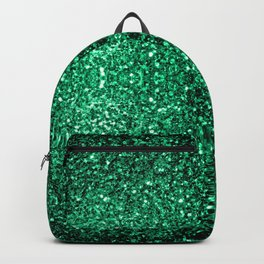 Beautiful Emerald Green glitter sparkles Backpack
