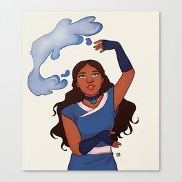 Waterbender Canvas Print